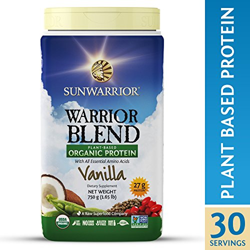 Sunwarrior - Warrior Blend, Raw, Plant Based, Organic Protein, Vanilla, 30 servings