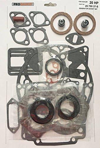 New Gasket Set W// Seals Fits Kohler M18 M20 KT17 KT19 KT21 Replaces 25 755 37-S
