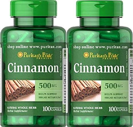 2 Canela 500 mg.cinnamon 100 caps. Diabetes, Bronquitis, Anorexia: Amazon.es: Salud y cuidado personal