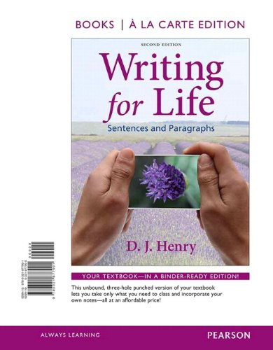 Writing for Life: Sentences and Paragraphs, Books a la Carte Plus MyWritingLab with eText -- Access Card Package (2nd Ed