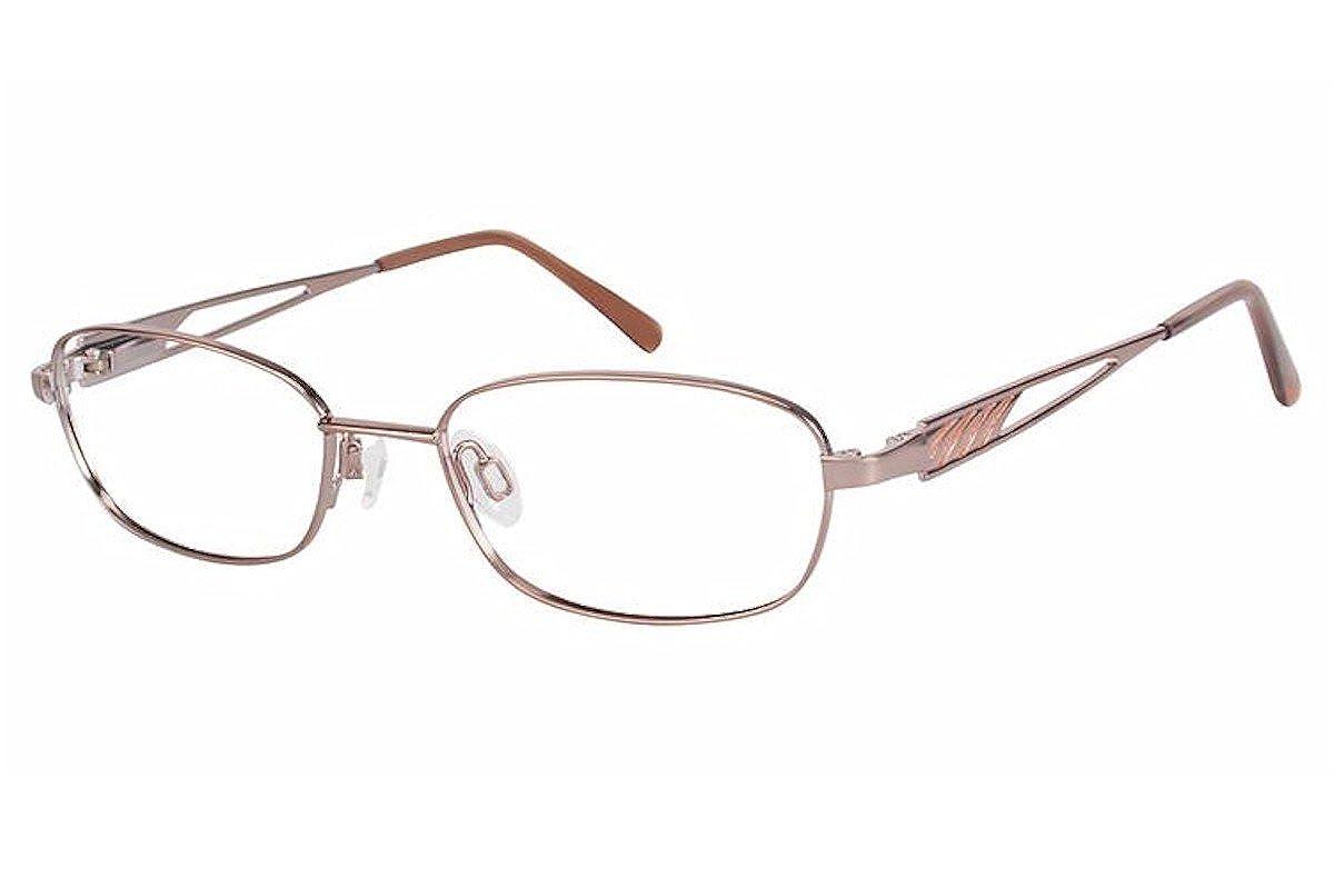 Aristar By Charmant Eyeglasses AR//16361 573 Light Brown Optical Frame 46mm