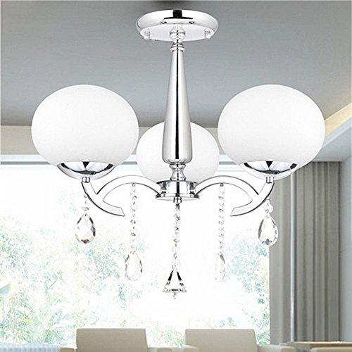 LOCO Elegant Modern Crystal 3 Light Chandelier, Ceiling Light Fixture, Flush Mount, Pendant Light Chandeliers Lighting