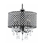 Cheap Crystal Chandelier Pendant Light with Crystal Beaded Drum Shade