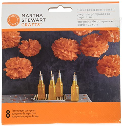 Martha Stewart Crafts Spooky Night Medium Pom Poms, 48-20449 -