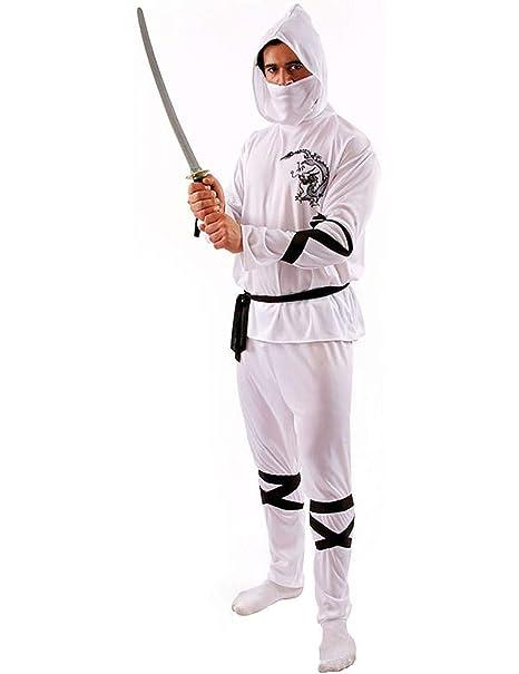 Amazon.com: Disfraz de Ninja blanco para adulto.: Home ...