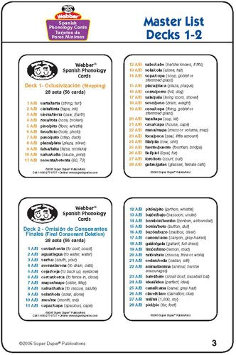 Webber Spanish Phonology Flash Cards (8 Total Fun Decks) - Super Duper Publications Educational Resource for Children