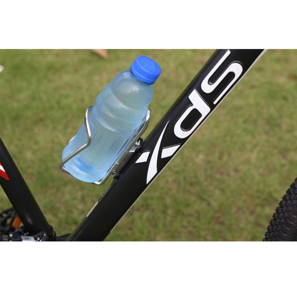 Fliyeong Fahrrad Wasserkocher Rack Einstellbare Flaschenhalter Aluminiumlegierung Sport Flaschenhalter Halter Radfahren Ausr/üstung Silber