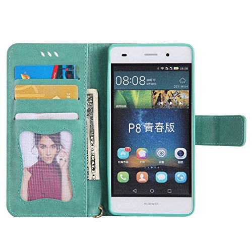 Guran® Luminoso Funda de Cuero Flip Case Cover para Huawei P8 Lite ...
