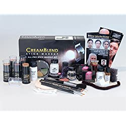 Mehron CreamBlend Stick All Pro Makeup Kit   Face, Hair, Eye Contouring, Stage, Films, TV, Video, Photography, Theatrical Makeup & More   Long Lasting Professional Set (Fair)