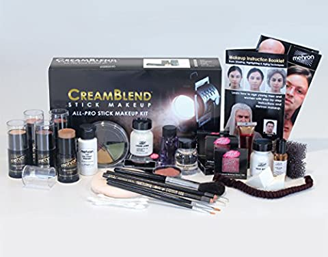 Mehron CreamBlend Stick All Pro Makeup Kit | Face, Hair, Eye Contouring, Stage, Films, TV, Video, Photography, Theatrical Makeup & More | Long Lasting Professional Set (Cheap Special Effects Makeup)