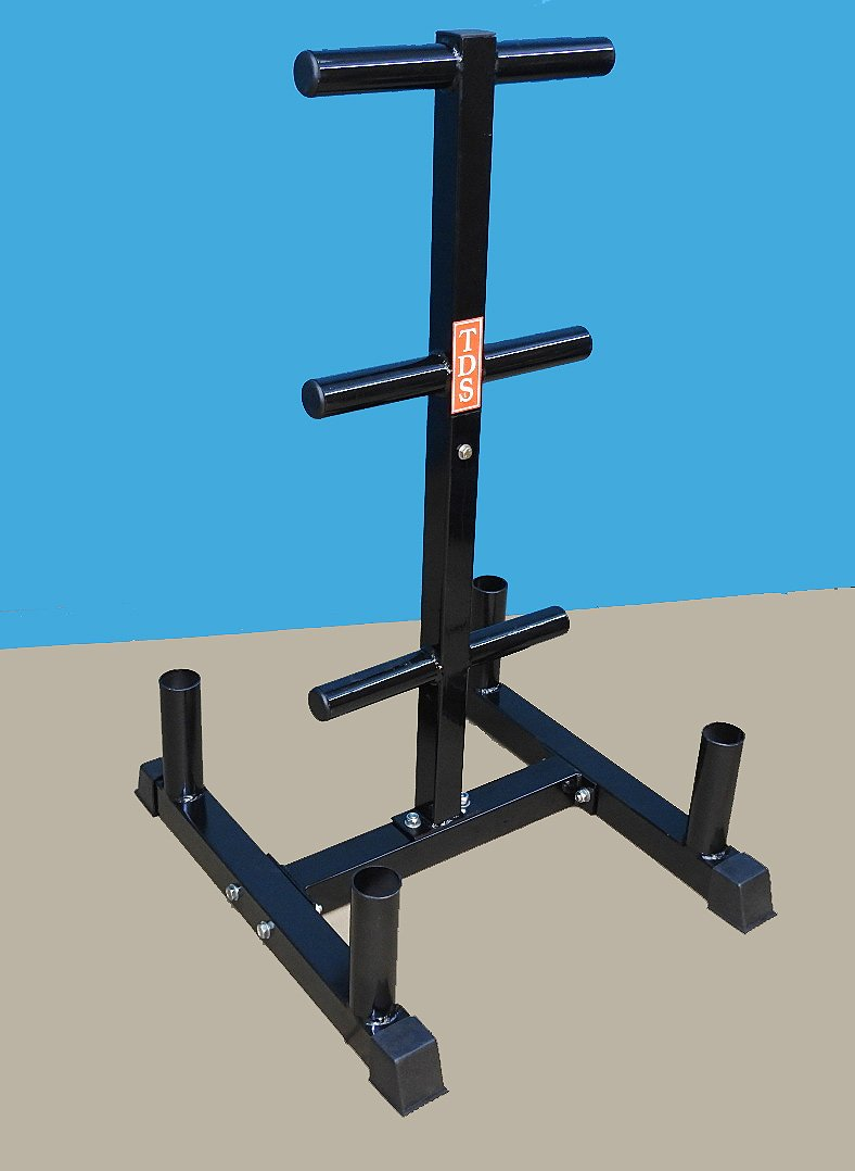 TDS Vertical Olympic Bar and Olympic plate Rack, Heavy duty designed to hold (4) Olympic bars & 800 lb. Olympic plates
