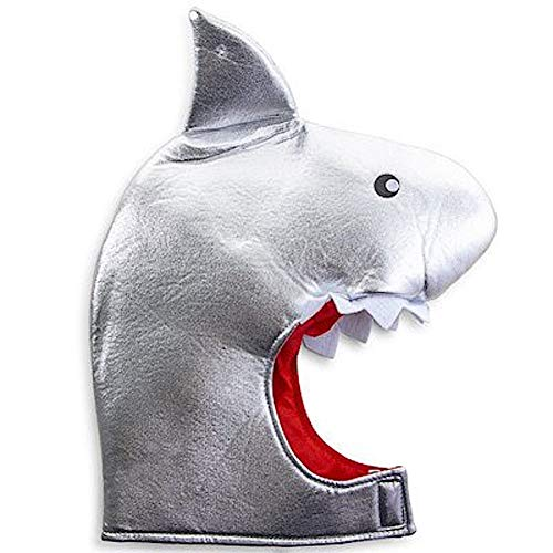 Halloween Costume Soft Silver Shark Mask Hat