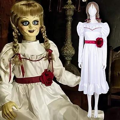 Rubyonly Película de Terror Annabelle Cosplay de Halloween Vestido ...