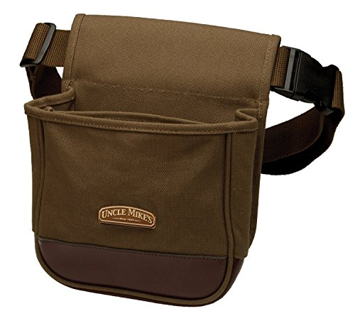 Uncle Mike's Deluxe Canvas Shell Pouch (Brown, One Size) (Clays Belt)