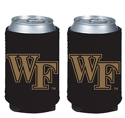 (NCAA College 2014 Team Logo Color Can Kaddy Holder Cooler 2-Pack (Wake Forest Demon Deacons))