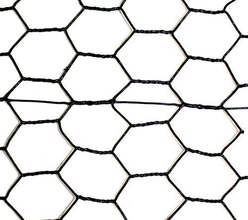 - Steel Hex Web Blk PVC Coated Fence - 8' x 100'