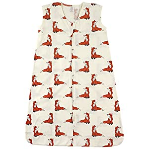 Touched by Nature Baby Organic Cotton Wearable Safe Sleeping Bag, Boho Fox 6-12 Months