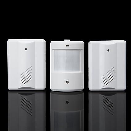 USUN nueva puerta Chimes inalámbrico inalámbrica PIR Sensor de movimiento por infrarrojos Detector de alarma entrada