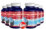 Glutamine organic powder - BRAIN AND MEMORY BOOSTER - improve mental clarity (6 bottles)
