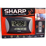 sharp weather station. sharp atomic weather station with titanium accent