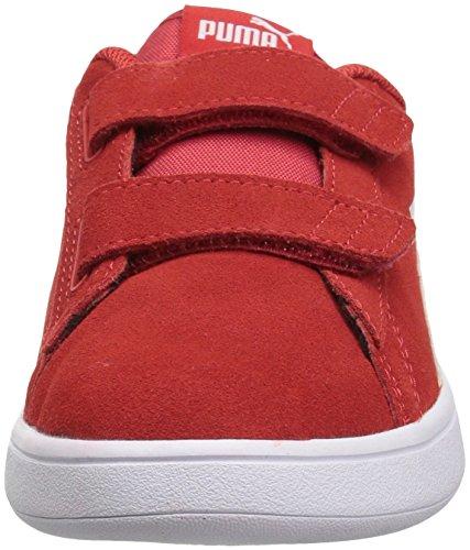 size 40 85849 fc123 PUMA Smash v2 Suede Preschool Sneakers (High Risk Red/Puma White)(2.5 M US  Little Kid)