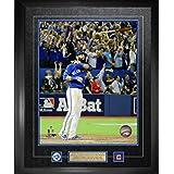 Frameworth Jose Bautista-Framed 16x20-Inch Etched Mat Pins and Plate-Toronto Blue Jays Bat Flip