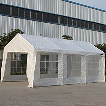 SNAIL 10 X 20 Ft Outdoor Enclosed Domain Carports Waterproof Portable Car Storage  Shelter Party Tent