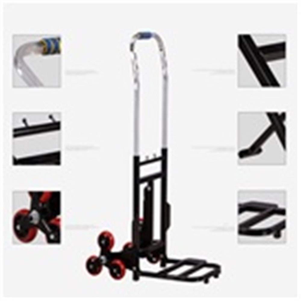 JIANPING Trolley Household Folding Portable Mute Trolley Car Shopping Cart Luggage Cart Truck Trailer Can Bear 100kg Shopping Trolley (Color : A) by JIANPING (Image #3)