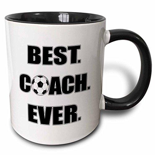 3dRose 181861_4 Best Coach Ever Two Tone Mug, 11 oz, Multicolor