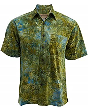Island Oasis Cotton Batik Shirt By Johari West