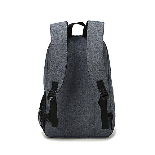 Anne - Bolso mochila  de Lona para mujer negro azul Gris Profunda