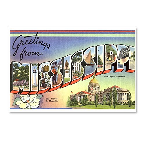 CafePress - Greetings From Mississippi Postcards (Package Of 8 - Postcards (Package of 8), 6