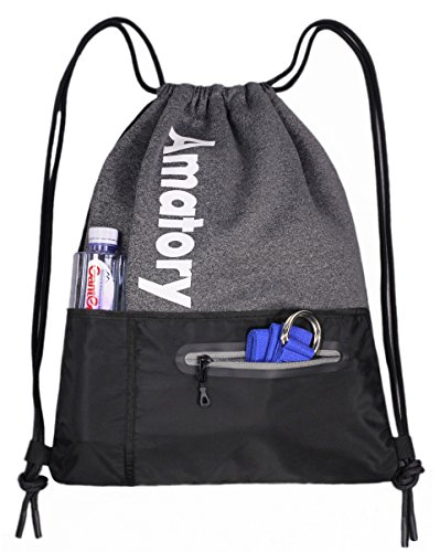 Drawstring Backpack Sports Athletic Cinch Sack Gymsack Sackpack Gym String Bag -