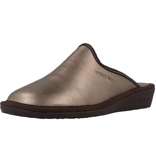 Zapatillas de Estar por casa de Mujer, Color Metálico, Marca NORDIKAS, Modelo Zapatillas De Estar por Casa De Mujer NORDIKAS 347 8F Metálico: Amazon.es: ...