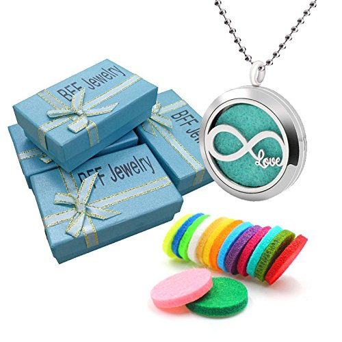 BFF Jewelry Fashion Aromatherapy Essential Oil Necklace Diffuser Locket Necklaces Letter Love 8 Pendant