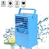 Madoats 9.5-inch Super Mini Portable Air Conditioner Fan Small Desktop Fan Quiet Personal Table Fan Mini Evaporative Air Circulator Cooler Humidifier,Upgrade