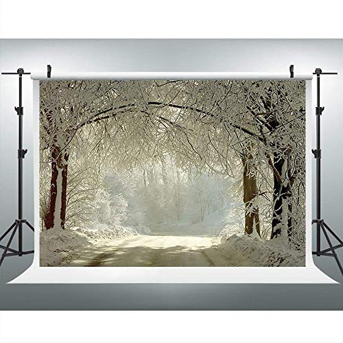 Winter Wonderland Wedding - Winter Wonderland Backdrop 7x5ft Vinyl Christmas Backdrop for Wedding Pictures White Snow Forest Woods Backdrops for Birthday Photos