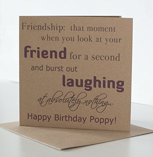 Best Friend Birthday Card Personalised For A Special Or Friendship Greeting Laughing Themed