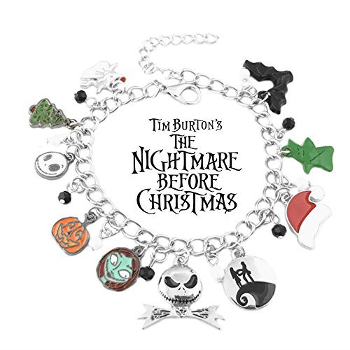 Superheroes Brand The Nightmare Before Christmas Charm Bracelet w/Gift Box Movies Premium Quality Cosplay Jewelry Series by]()