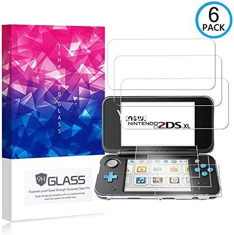 Ycloud [6 Pack] Protector de Pantalla para Nintendo New 2DS XL,[9H Dureza/0.3mm],[Alta Definicion] Cristal Vidrio Templado Protector para Nintendo New 2DS XL: Amazon.es: Electrónica