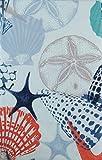#6: Sea Life Impressions with Zipper Umbrella Hole Vinyl Flannel Back Tablecloth (70