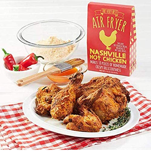Pelican Bay Air Fryer Spicy Chicken Coating | Nashville Hot Chicken Seasoning | Homemade Air Fried Chicken | 1 Pack of 5.6 Ounce | Makes 10 Pieces