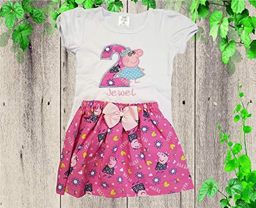 Peppa Pig birthday outfit Girl Peppa pig Tutu dress Girl Tutu dress Girl Peppa Pig outfit