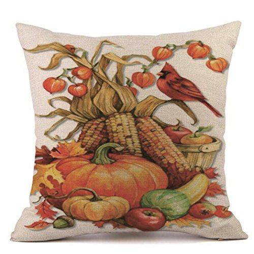 Throw Pillow Covers,HP95(TM) 18x18 Pillow Cases Linen Sofa Cushion Cover Home Decor for Thanksgiving Halloween Christmas (G)