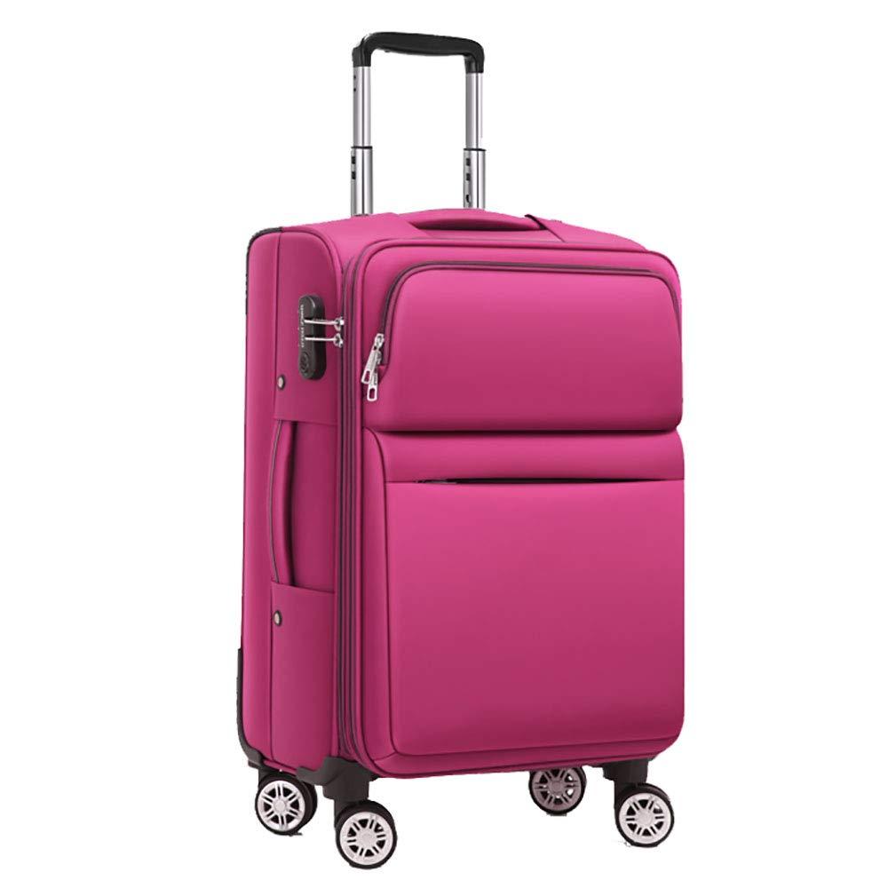 トロリー荷物ユニバーサルホイールスーツケース女性のパスワードボックス男性20インチの搭乗スーツケーストロリーケースピンク35 * 24 * 57CM B07KRBJFVC