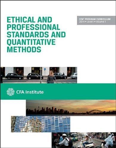 Cfa Level I 2014: Volume 1 — Ethical and Professional Standards and Quantitative Methods (Cfa Program Curriculum) by Cfa Institute (2013-07-15)