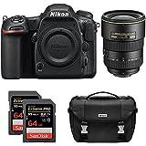 Nikon D500 CMOS DX DSLR Camera w/ 4K Video (Body) + 17-55mm F/2.8G ED-IFAF-S DX Zoom Lens + 2x Lexar 64GB Professional 1000x SDHC/SDXC Class 10 Memory Card + Deluxe DSLR Camera Bag