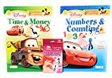 Back to School Student Toddler Pre-school Elementary School Classroom Teacher Student Pre-k Kindergarten 1st Grade Workbooks Time Money Counting Pencils Numbers Addition Pixar Cars