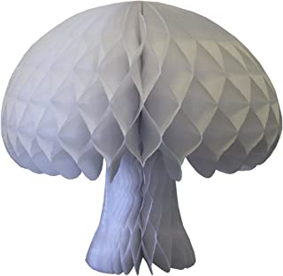 product image for 2-pack Large 16 Inch Honeycomb Tissue Paper Mushroom Party Decoration, White