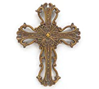 Bronze & Gold Wall Decor Cross - 6.5 Length X 8.5 Height